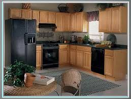 what color of cabinets go with black appliances kitchen paint colors with oak cabinets and black appliances