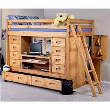 bunk bed with desk dresser and trundle bunkhouse full rodeo loft bed with desk drawers and trundle bed by