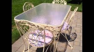 Wrought Iron Vintage Patio Furniture by Vintage Wrought Iron Patio Furniture Youtube