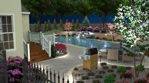 Backyard Grill Area by 3d Pool Design Whitehouse Landscaping