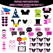mickey mouse photo booth instant minnie mouse friends birthday inspired