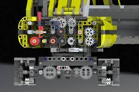 lego technic 3d lego technic motorized excavator cgtrader