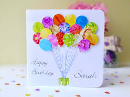 personalised birthday balloons personalised birthday card handmade custom birthday balloons