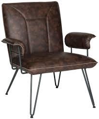 Brown Bicast Leather Armchair Safavieh Com