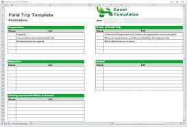 trip schedule template word excel
