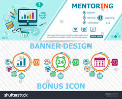 mentoring template mentoring concepts abstract cover header background stock vector