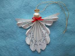 paper doily angel ornament by myangelsandmore on etsy 3 00