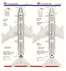 Boeing 777 300er Seat Map Airlines Past U0026 Present American Airlines Seating Guide Map 1983
