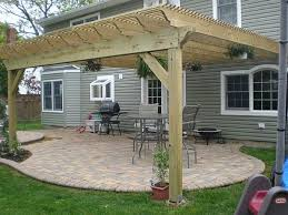 How Much Is A Pergola by Low Price Diy Pergola Attached To House Garden Landscape