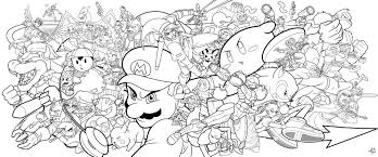 super smash bros inside coloring pages eson me