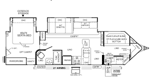 this is the floor plan of a 5th wheel travel trailer we hope to