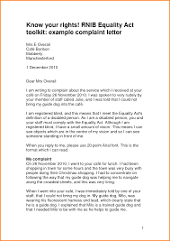 complaint letter service complaint letter example to company cover