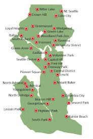 seattle map green lake trees for seattle
