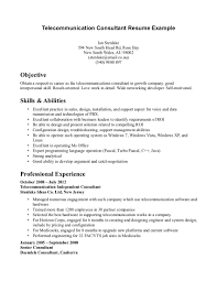 Best Consulting Resume by Telecommunication Resume Free Resume Example And Writing Download