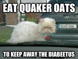 Quaker Memes - eat quaker oats to keep away the diabeetus misc quickmeme