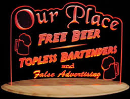 light up beer signs bar signs valley view designs custom led edge lit lighted signs