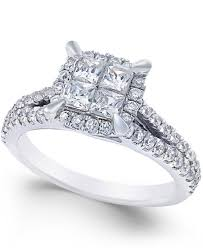 rings with square images Square quad halo diamond engagement ring 1 ct t w in 14k white jpg