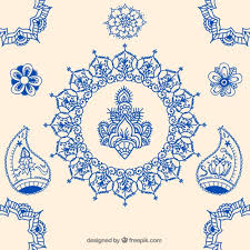 indian ornaments vector free