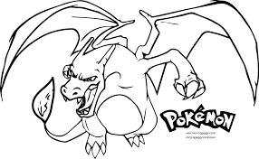 coloring pages mega charizard colouring pokemon mega charizard