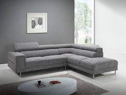 canapé d angle gris salon canapé d angle avec appuis tête en tissu gris