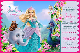 fascinating barbie birthday invitation cards 13 for example of