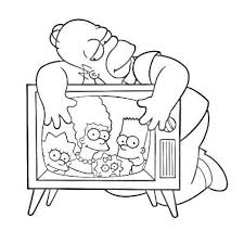43 coloring pages simpsons images