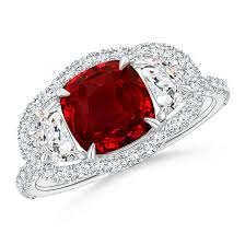 halo rings red images Jewels claw set precious jewelry engagement ring vintage jpg