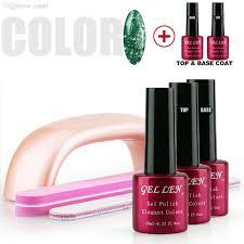 wholesale gel len nail art tip set wholesale color led gel polish
