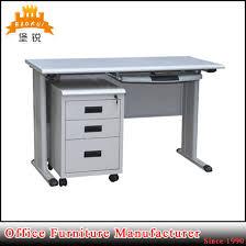Steel Office Desks Light Grey Steel Cpu Storage Locking Drawers Office Computer Desks
