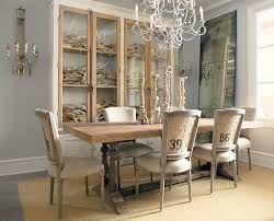 dining room excellent whitewashed trestle table with light gray