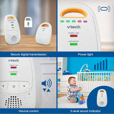 amazon com vtech dm111 audio baby monitor with up to 1 000 ft