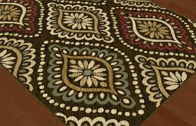 Brown Geometric Rug Brown Transitional Floral Area Rug Geometric Dots Casual Multi