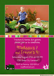 john deere birthday invitation tractor green country party