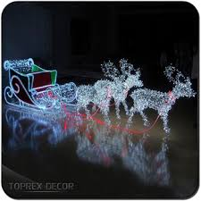 lights reindeer and sleigh large outdoor reindeer