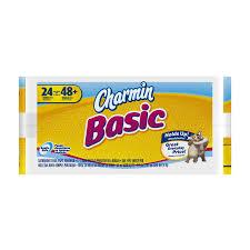 Charmin Bathroom Shop Charmin Basic 24 Pack Toilet Paper At Lowes Com