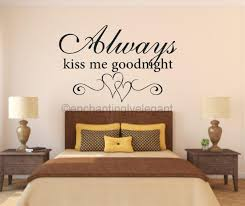 wall stickers quotes for bedrooms always kiss me goodnight vinyl wall stickers quotes for bedrooms always kiss me goodnight vinyl wall