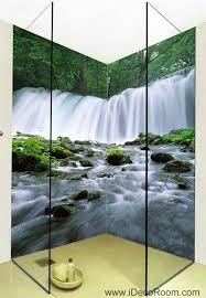 3d Wallpaper Home Decor by 3d Wallpaper Forest Fall Brook Tree Wall Murals Bathroom Decals