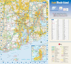 Map Of National Parks In Usa Large Detailed Roads And Highways Map Of Rhode Island State With
