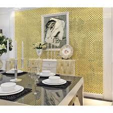 gold mirror glass tile crystal tile square wall backsplashes