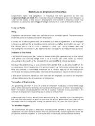 Notice Required To Terminate Employment by Basic Facts On Employment In Mauritius Parental Leave Employment