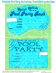 Invitation Card For Pool Party Pool Party Invitations Free Cimvitation