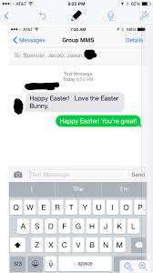 my easter bunny my text from the easter bunny twyste