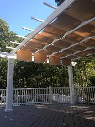 Retractable Pergola Awning by Trex Pergola Kit With Canopy Long Island New York