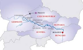 Europe Rivers Map by Europe Map Danube River Image Information