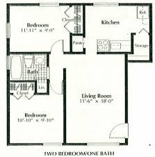 2 bedroom 1 bath floor plans 1 bed bath house plans chercherousse
