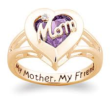 rings for mothers day birthstone ring with diamond accent middle ring and