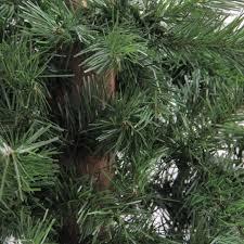 accessories 7 foot unlit artificial trees slim white