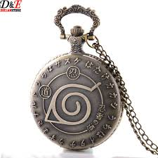 pocket watch necklace wholesale images Wholesale prices vintage anime naruto leaf figure pocket watch jpg