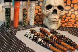 gourmet halloween chocolate how to make chocolate covered pretzel rods youtube
