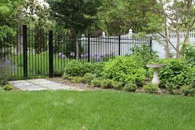 fence design before after fenceline pool landscaping along fence